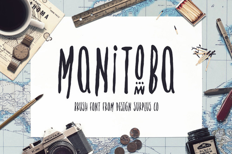 MANITOBAfont Beautiful Sample